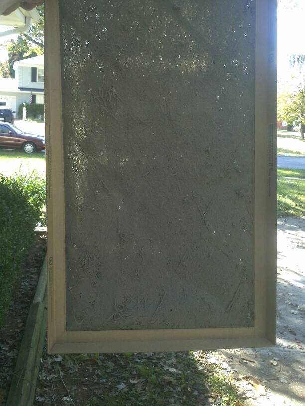 neglected hvac air filter, dirty and clogged
